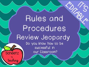 Rules and Procedure Review Game - EDITABLE