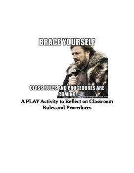 Classroom Rules and Procedures:  REVISIT THEM by Creating a Play