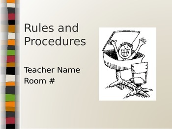 Rules and Procedures Powerpoint - Beginning of the Year