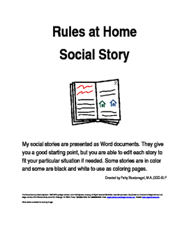 Rules at Home Social Story