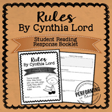 Rules by Cynthia Lord Reading Response STUDENT BOOKLET
