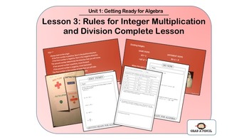 Rules for Integer Multiplication and Division Complete Lesson