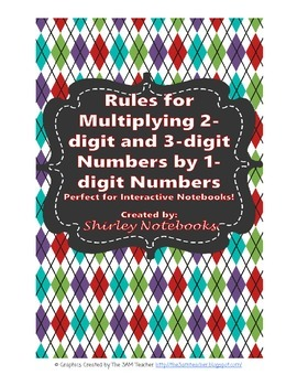 Rules for Multiplying 2-digit numbers and 3-digit numbers