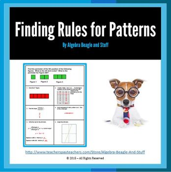 Rules for Patterns by using Slope and Y Intercept Scaffold Notes