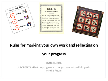Rules for student reflection & target setting