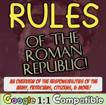Rules of the Roman Republic: An overview of roles in the R