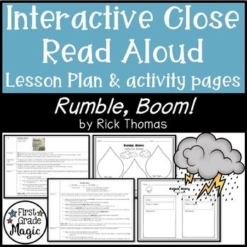 Rumble, Boom! Close Read Interactive Read Aloud Lesson Pla