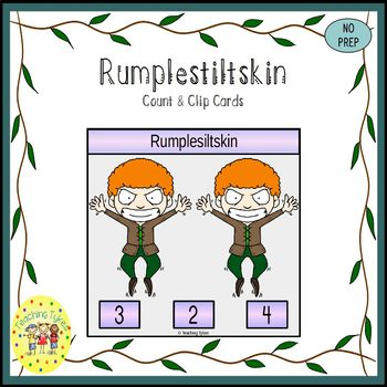 Rumplestiltskin Fairy Tales  Count and Clip Task Cards