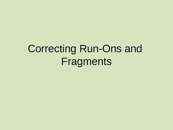 Run-Ons and Fragments Powerpoint