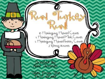 Run Turkey Run! Math, Reading, & Writing Unit ** Thanksgiv
