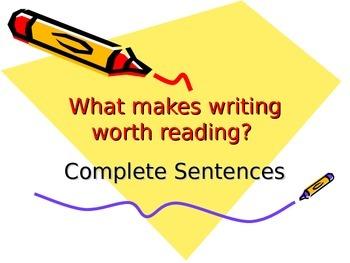 Run on Sentences and Complete Sentences (Subject Predicate