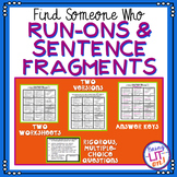Run-on and Fragment Sentences - Find Someone Who