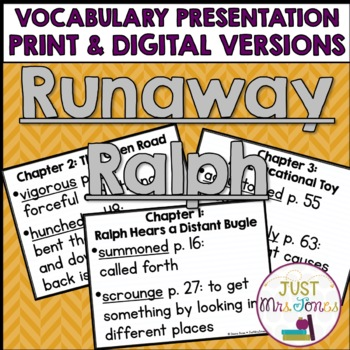 Runaway Ralph Vocabulary Presentation