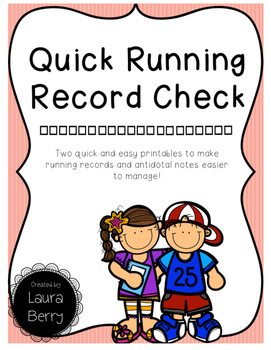 Running Record 100 Box Check