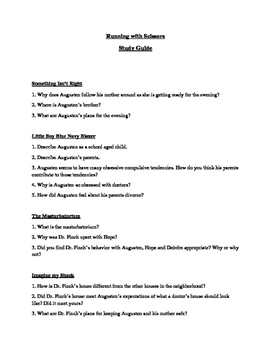 Running with Scissors Chapter by Chapter Study Guide