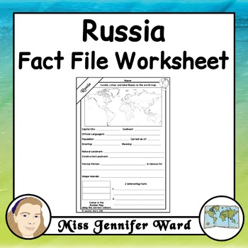 Russia Fact File Worksheet
