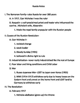 Global 2: Russia Notes