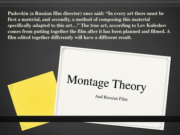 Russian Montage Theory