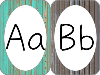 Rustic Alphabet Cards