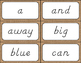 Rustic Burlap Sight Word Cards {Dolch Edition - D'Nealian Font}