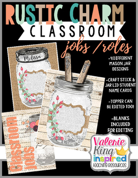 Rustic Charm Collection: Classroom Jobs / Roles