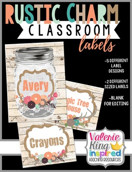 Rustic Charm Collection: Classroom Labels