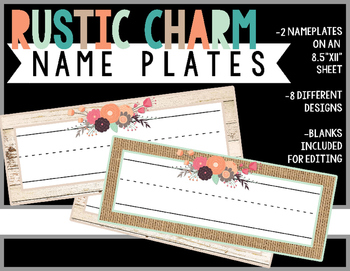 Rustic Charm Collection: NamePlates