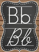 Rustic Chic & Chalkboard Alphabet Posters