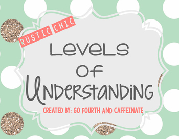 Rustic-Chic Levels of Understanding Posters