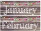 Rustic Wood & Pom Pom Calendar Set