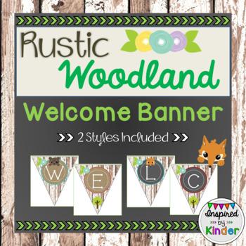 Rustic Woodland Animal Welcome Banner