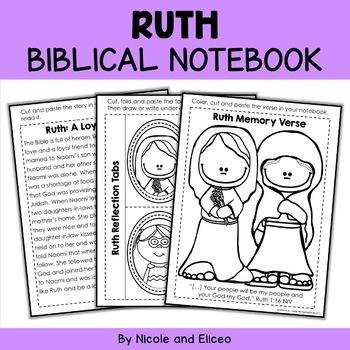 Ruth Interactive Notebook Bible Unit