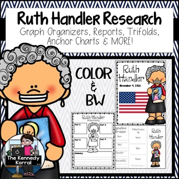 Ruth Handler: Biography Research Bundle {Report, Trifold,