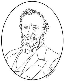 Rutherford B. Hayes (19th President) Clip Art, Coloring Pa