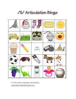 """S"" Articulation Bingo"
