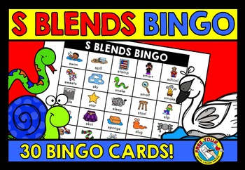 S BLENDS ACTIVITIES: S BLENDS BINGO GAME FOR WHOLE CLASS: