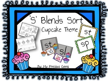 S Blends Cupcake Theme