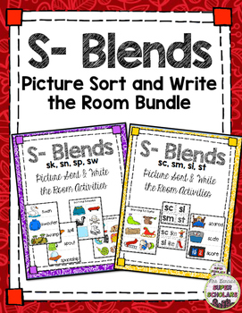 S- Blend Sort/ Write the Room {Combined Set}