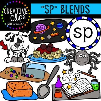 S-Blend Words: SP {Creative Clips Digital Clipart}