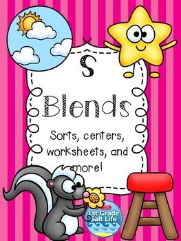 S Blends Activities / S Blends Word Work