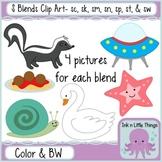 S Blends Clip Art Bundle- sc, sk, sm, sn, sp, st, & sw clipart