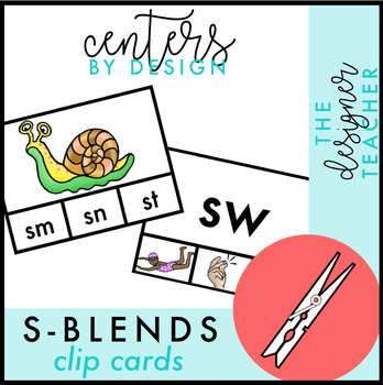S Blends Clip Cards {SC, SK, SM, SN, SP, & SW}