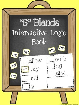 """S"" Blends Interactive Logic Book"
