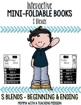 S Blends Mini Flip Book Foldable