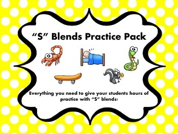 """S"" Blends Practice Pack"