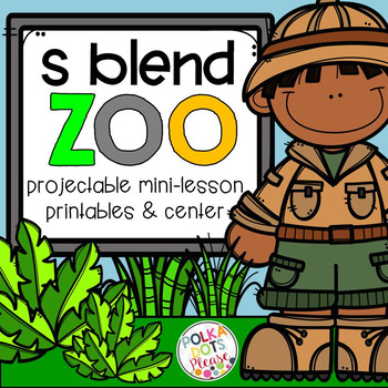 S Blends Projectable Mini-Lesson, Printables, and Center