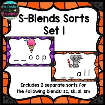 S-Blends Sorts Set 1: sc, sk, sl, and sm