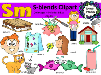 S Blends clipart - Sm words - 20 images! Personal and Comm