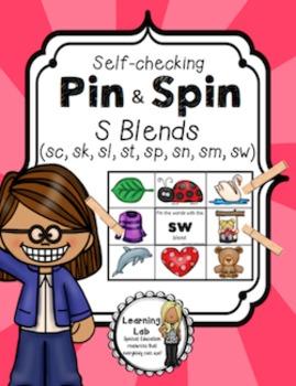 S Blends (sc, sk, sl, sp, st, sw, sm, sn) - Self-Checking