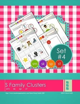 """S"" Family Clusters sm/sk/sp/st  (#4 of 4 Phonemic Awarene"